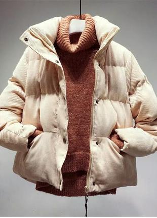 Модные женские осенне-зимние вельветовые стеганые куртки.