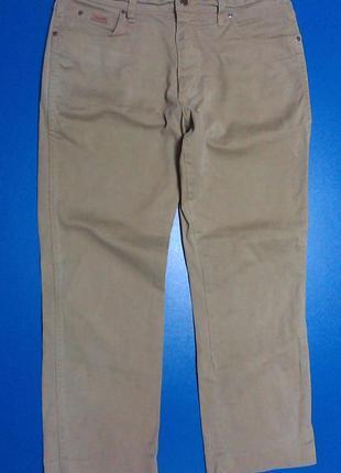 Бежевые стрейчевые плотные джинсы wrangler 36/32
