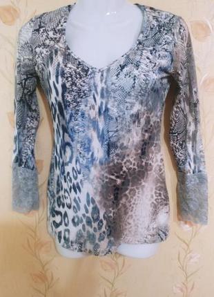 Кофта, блуза от anabel arto, с кружевом, вискоза