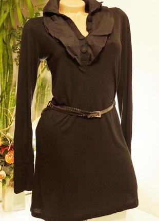 Платье, туника с жабо, цены снижены до 15.02., лето 1+1=3