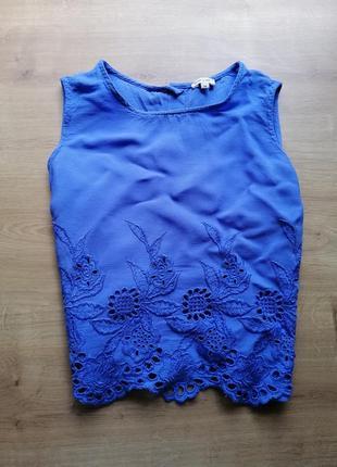 Летний вышитый топ блуза