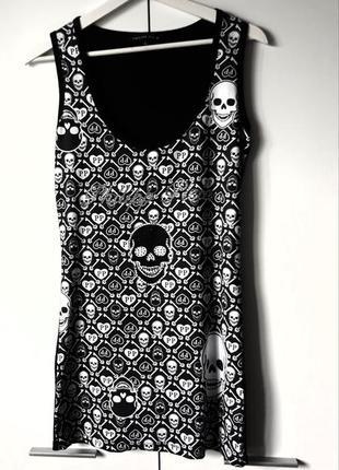 Брендовое платье, длинная футболка  philipp plein