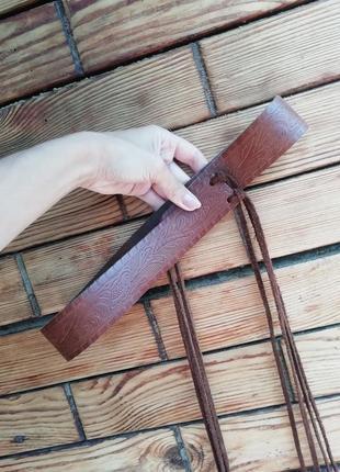 Модный кожаный ремень на завязках h&m