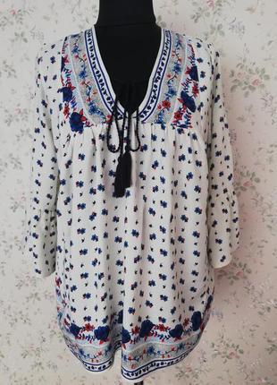 Шикарна блуза, як вишиванка george на зав'язках