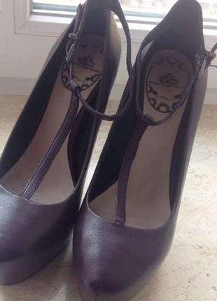 Туфли fornarina тёмно-фиолетовые