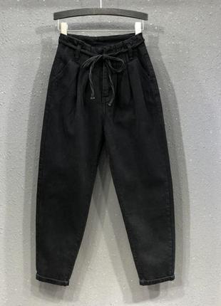 Джинсы штаны джоггеры свободного кроя