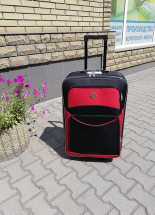 Польский чемодан дорожный большой на 5 колесах