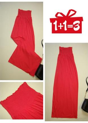 1+1=3 коралловый макси сарафан платье в пол miss selfridge