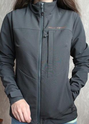 Серая куртка ветровка helly hansen размер с 36 состояние новой