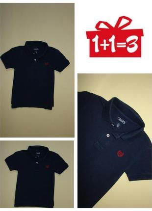 1+1=3 синяя футболка тенниска поло chaps 3-5 лет