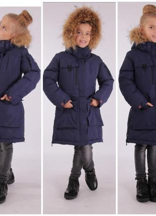 Зимнее пальто курточка snowimage для девочки полу-пальто