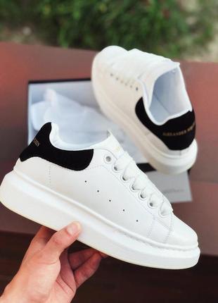 Шикарные женские кроссовки alexander mcqueen white / black 😍 (весна/ лето/ осень)