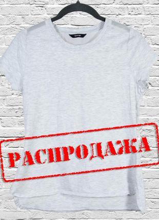 Базовая серая футболка с сеткой на спине, приталенная футболка светло серая