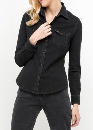 Брендовая джинсовая рубашка