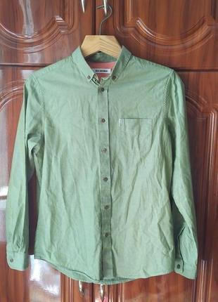 Рубашка цвета хаки ben sherman