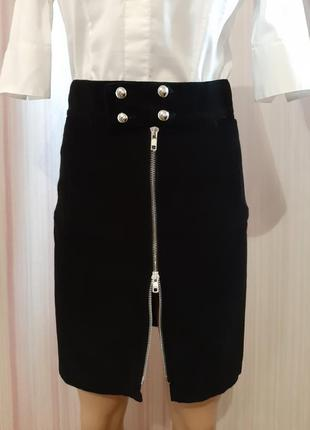 Супер цена до конца недели! стильная прямая вельветовая юбка