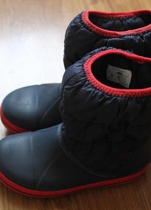 Суперские сапожки резина на дождь от люксового бренда crocs размер c13 (30-31)