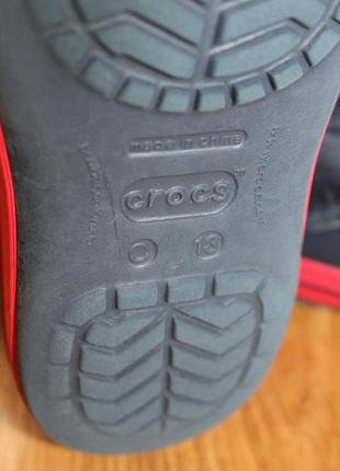 Суперские сапожки резина на дождь от люксового бренда crocs размер c13 (30-31)5 фото