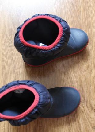 Суперские сапожки резина на дождь от люксового бренда crocs размер c13 (30-31)2 фото