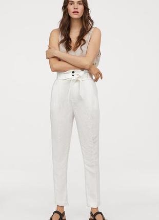 Білі лляні штани