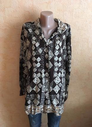 Вискозная блуза в принт