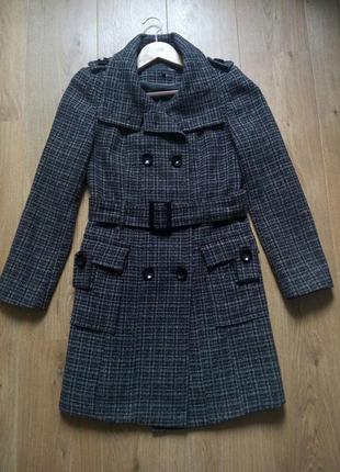 Двубортное полушерстяное демисезонное пальто next,  весеннее/осеннее пальто
