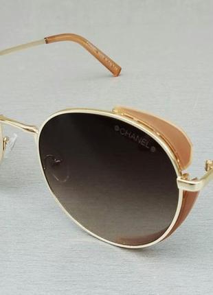 Chanel очки женские солнцезащитные с боковыми шторками