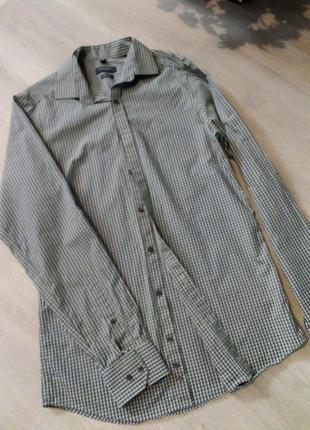 Рубашка клетка manoukian вторая вещь скидка 25%2 фото