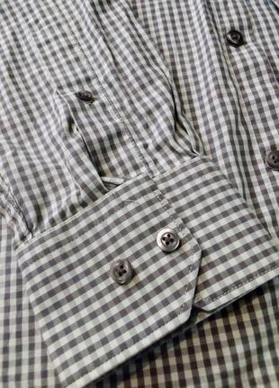 Рубашка клетка manoukian вторая вещь скидка 25%3 фото