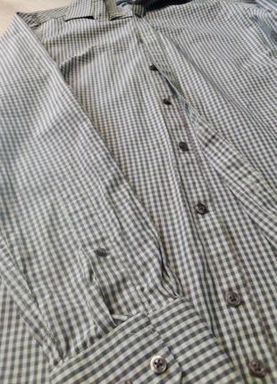 Рубашка клетка manoukian вторая вещь скидка 25%4 фото