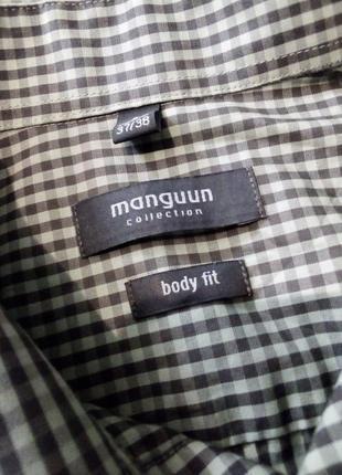 Рубашка клетка manoukian вторая вещь скидка 25%5 фото
