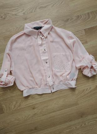 Блуза  цвет пудри s