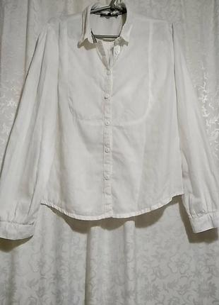 Белая льняная блузка betty jackson studio 12 размер