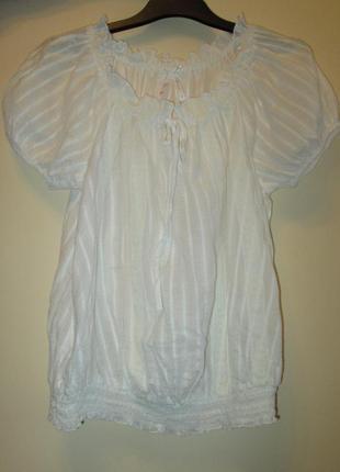 Распродажа  легкая белая блуза next котон размер 6 и 8