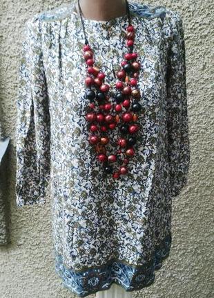 Блузка ,туника,рубаха,платье с подкладкой,хлопок, zara