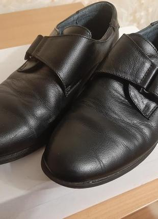 Кожаные туфли для школьника