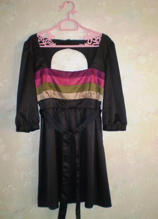 Платье asos р. m, необычная спинка, маленькое черное