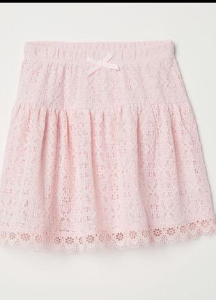 Нарядная юбка h&m кружевная размер xxs/xs