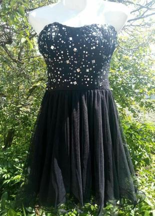 Супер платье нарядное выпускное/вечернее с камушками