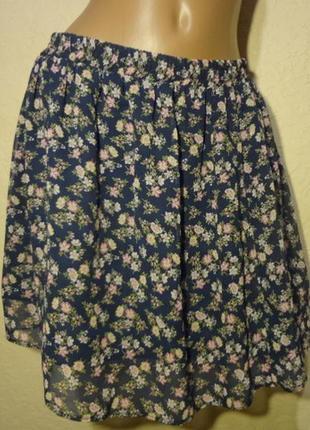 Шифоновая короткая юбка размер м