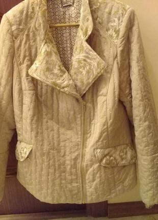 Куртка, демисезонная, с гипюровой отделкой