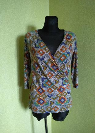 Трикотажная кофтрчка рубашка 18 размер наш 52 от tu цена 145 грн