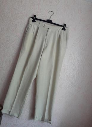 Льняные брюки  chaps от ralph lauren 48-50 размер