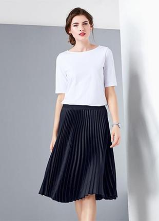 Распродажа ! шикарная элегантная юбка плиссированная размер наш 46/48 tchibo чибо германия