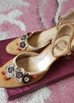 Летние кожаные туфли chester 36 размер