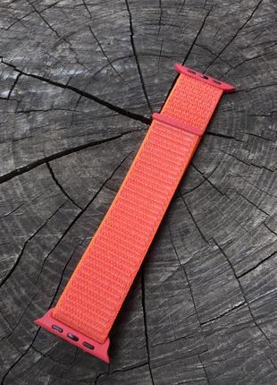 Ремешок браслет sport loop дляapple watch 42/44мм и 38/40 мм spicy orange