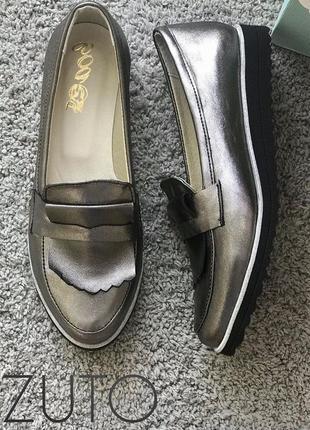 Женские туфли без каблука