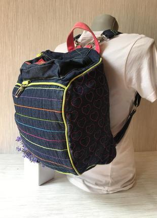 Джинсовый рюкзак-сумка little miss matched