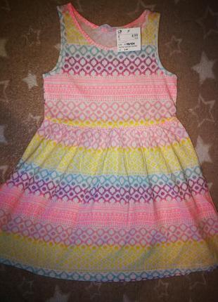 Сарафан, платье h&m 2-4 года. италия