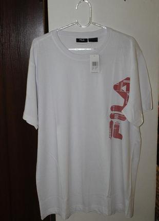 Хлопковая футболка fila